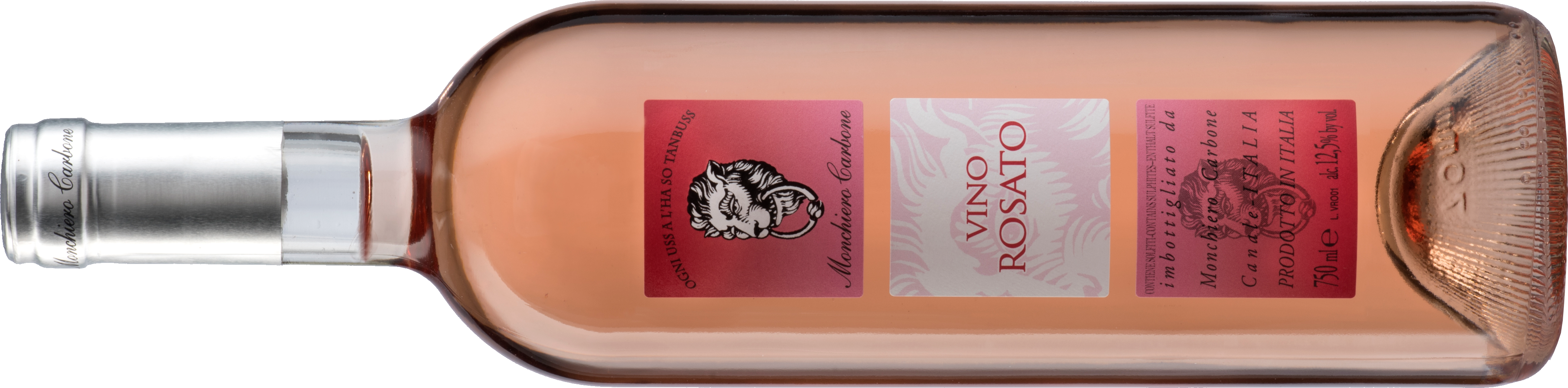 Vino Rosato lying down bottle