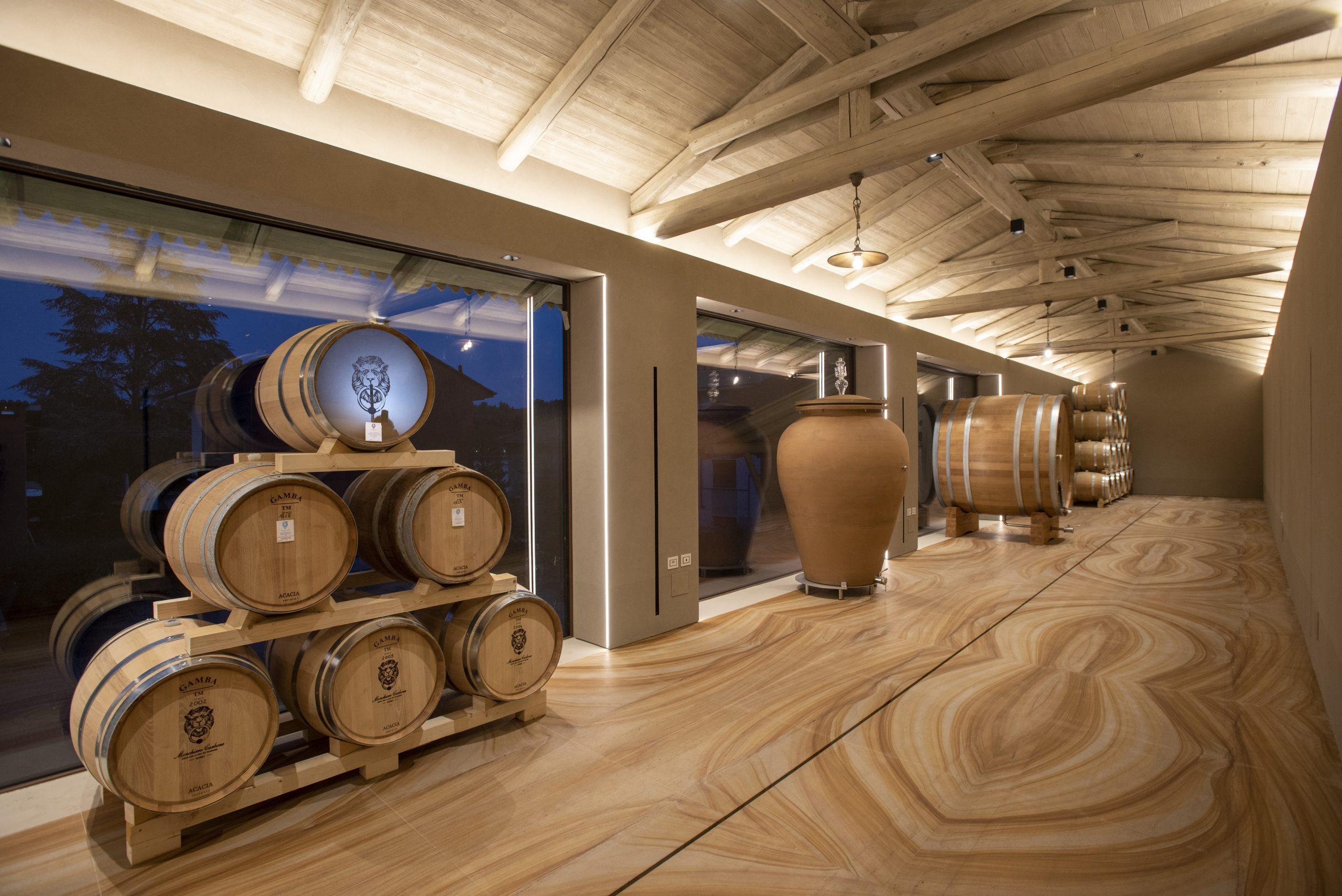 Nuova cantina affinamento per i vini bianchi